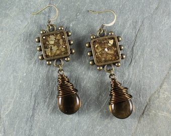 Bohemian Chic ~ Golden Topaz earrings