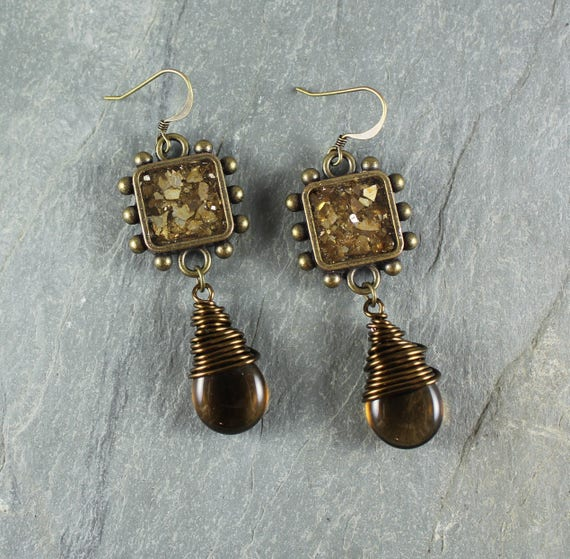 Bohemian Chic ~ Golden Topaz earrings
