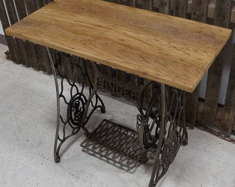 Vintage Reclaimed Sewing Base with Barnwood Top
