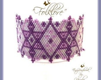"Beading Kit: ""Folklore"" Bracelet in English, Beads Only! D.I.Y."