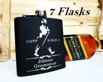 Will You Be My Man of Honor Flask / Best Man / Groomsmen / Will You Be My Groomsman / Gift for Groom / Ask your Best Man / Guys Flask Set