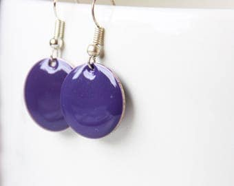 Earrings, earrings, enamel