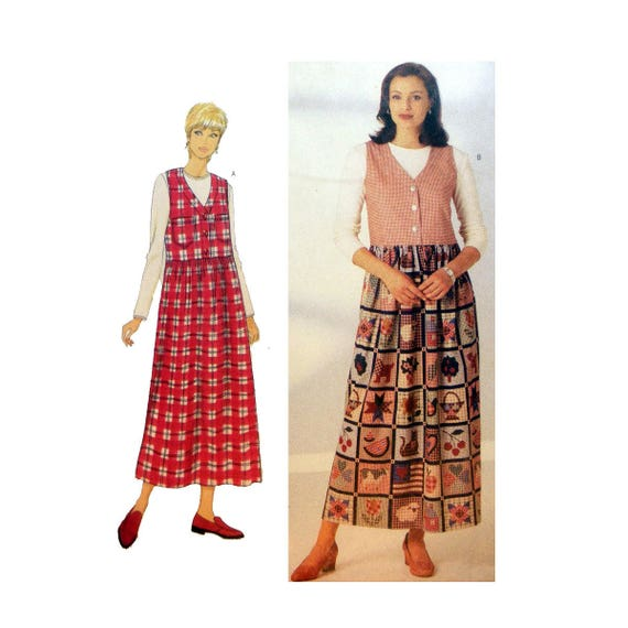 Women\'s Sleeveless Dress, Long Sleeve Top Sewing Pattern Misses ...