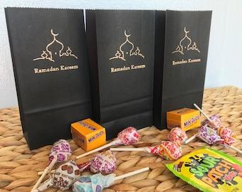 8 Ramadan treat bags / Ramadan Kareem goodie bags / Ramadan candy bags / Ramadan paper sacks / ramadan favors / Ramadan gift bag