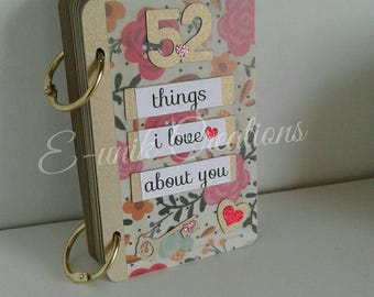 52 Reasons Why I Love You Mini Book-Things I Love About You