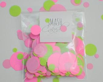 Confetti, Luau confetti, Pink and Lime confetti, Luau Party