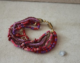 Multi Strand Beaded Bracelet