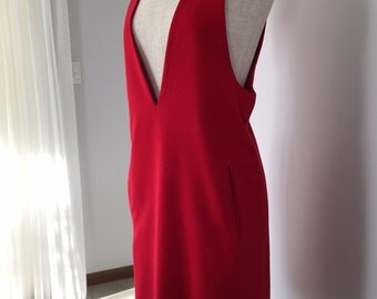 60'S STYLE ANNE KLEIN Red Pinafore