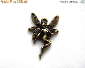 HALF PRICE 10 Bronze Fairy Charms  -  Faerie Faery