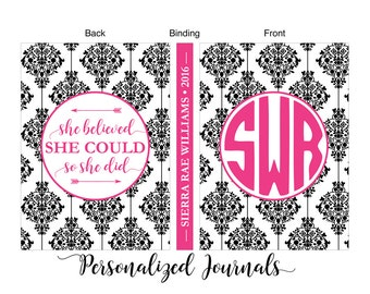 Teen girl Christmas Gifts, Tween girl gifts, Personalized Journal, Daughter Christmas Gift, Custom Colors, Wording and Background Design