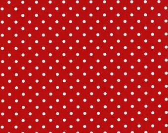 Timeless Treasures- Red Dot, Fabric by the Yard