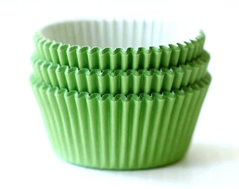 Solid Apple Green Cupcake Liners