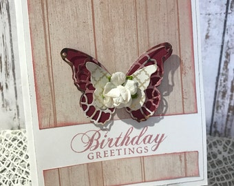 Birthday Greetings - Handmade Card