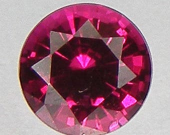 Excellent Cut Loose Ruby Round 5 mm Pigeon Blood red ruby Lab corundum Lab Created Loose Gemstones