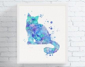 Birman Cat Art Print, Watercolor Birman Cat Painting, Cat Wall Art, Cat Lover Gift, Framed Cat Artwork, Cat Home Decor, Pet Print, Cat Breed