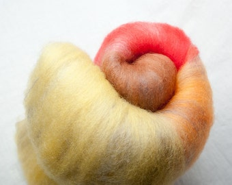 Large Fall inspired batt for spinning or felting (160089)