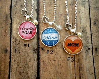 Mother's Day, MOM, Charm Necklace, Mother, gift, custom necklace, jewelry, FREE Shipping!!