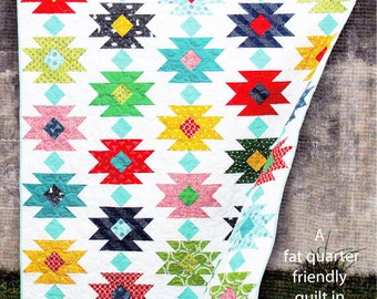 TAHOE Quilt Pattern     Fat Quarter Friendly   Adventuresome Beginner + Pattern    By: Cluck Cluck Sew  #158
