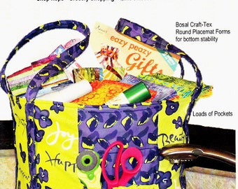 EVERTHING but the KITCHEN SINK Tote -  with Loads of Pockets!  - By: Easy Peazy Quilting    Shop Hops, Grocery Shopping, Quilt Class, Beach