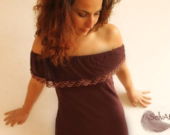 PETALS dress: purple ruffled