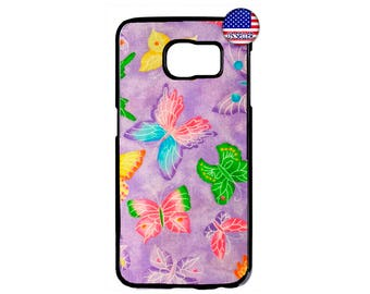 Butterflies Art Design Fashion Beautiful Hard Rubber Case Cover For Samsung Galaxy S8 S7 S6 Edge Plus S5 S4 S3 NOTE 5 4 3 2 iPod Touch 4 5 6