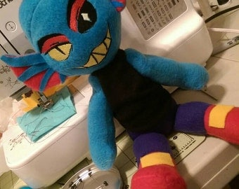 Undertale Undyne Sitting Plush (Unofficial)
