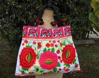 Handbag, shoulder bag, tote bag, bag multicolor shopping, ethnic 12