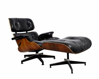 Mid Century Modern Eames for Herman Miller Rosewood Lounge Chair & Ottoman 1960s