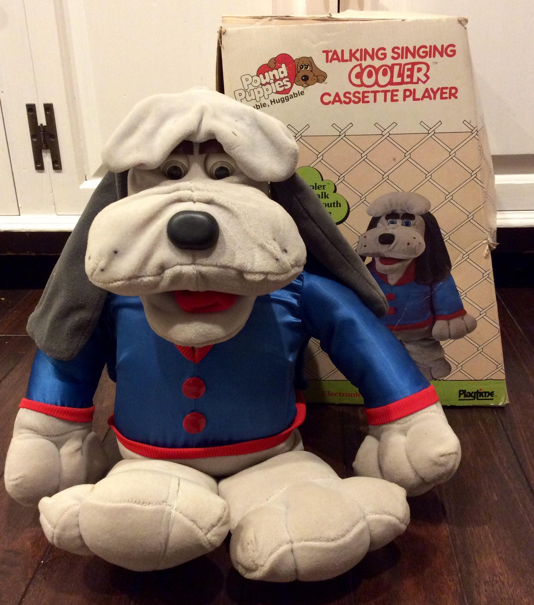 RARE 1986 Pound Puppies Cooler Animated Plush IOB