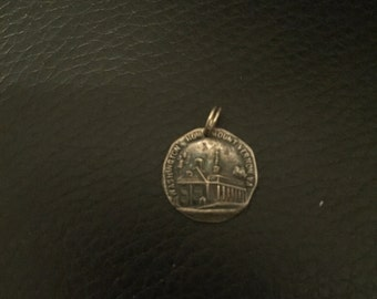 Vintage Sterling Silver Charm Washington's Home Mount Vernon Virginia