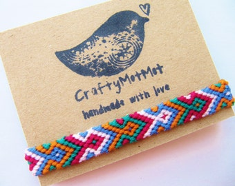 Friendship Bracelet Colorful Cute Bracelet Neat Quality Macrame Bracelet Handmade Aztec Knot Thread Handmade Wrap Woven Bracelets BFF Gift