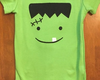 Frankenstein Halloween Shirt or Baby Bodysuit