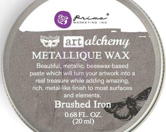 Finnabair Art Alchemy Prima BRUSHED IRON  METALLIQUE Wax .68 oz Altered Art Mixed Media 964009