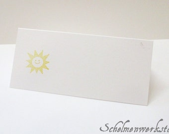 Place card with stamped Sun (5 PCs)