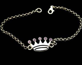 Silver Crown bracelet