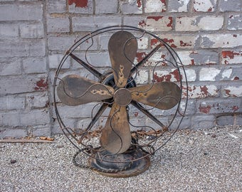 Robbins and Myers Vintage Brass Blade Fan