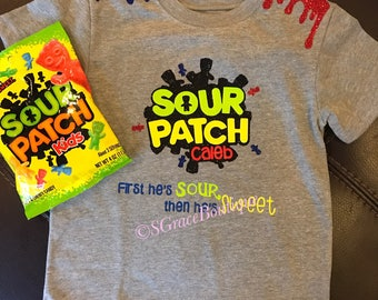Sour patch kids tee, first sour then sweet, Toddler shirt, wild child, boy, funny shirt, funny toddler boy shirt, sour, sweet