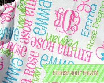 Girl Baby Blanket - Custom Receiving Blanket - Monogram Baby Blanket - Personalized Baby Blanket - Newborn Photo Prop - Coming Home Blanket