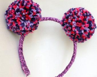 Abby Cadabby Inspired headband pom pom pigtails