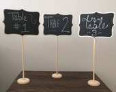 Love to Love Feb. Sale 10 Large Chalkboard Table Stands - Shabby Chic Wedding Decor. Chalkboard signs-by HandStampology