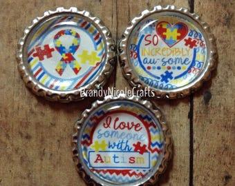 Autism Awareness Refrigerator Magnets - Set of 3