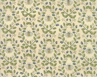 Garden Notes in Cream by Kathy Schmitz for Moda Fabrics - 1/2 Yard