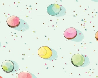 Colette - Dot Macarons Aqua - Brenda Walton - Blend Fabrics