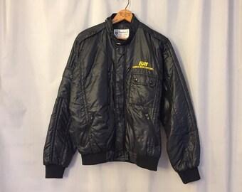 Black Jacket Robotics Vintage Zip Coat Men's Medium