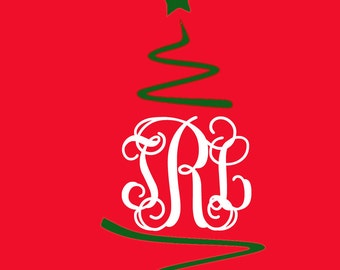 "Shop ""monogram christmas tree svg"" in General Supplies"