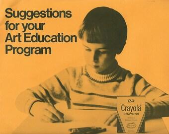 Vintage Crayola art education packet  1970's