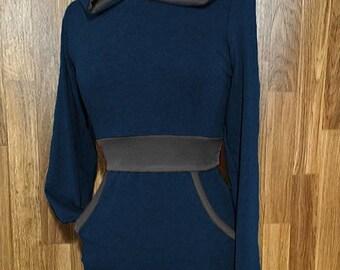 Navy and Dark Grey Breastfeeding Hoodie - Breastfeeding Shirt - Breastfeeding top - Nursing Shirt - Nursing Top - Nursing clothing