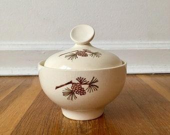 Stetson Brown Pinecone Sugar Bowl