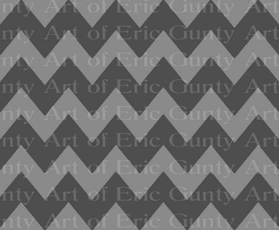 Gray on Grey Chevron Birthday - Edible Cake and Cupcake Topper For Birthday's and Parties! - D22389