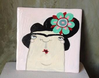 Coasters/TILE hand-painted / Frida Kahlo